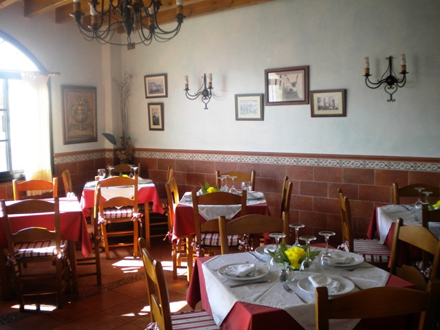 Fantastic location for this popular Restaurant and Bar in the centre of Monda. Very large outside te, Spain