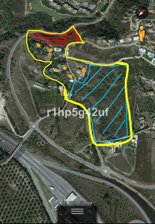 Plot to build 2 luxury villas in the border between Benahavis and Marbella, in the area of El Capita, Spain