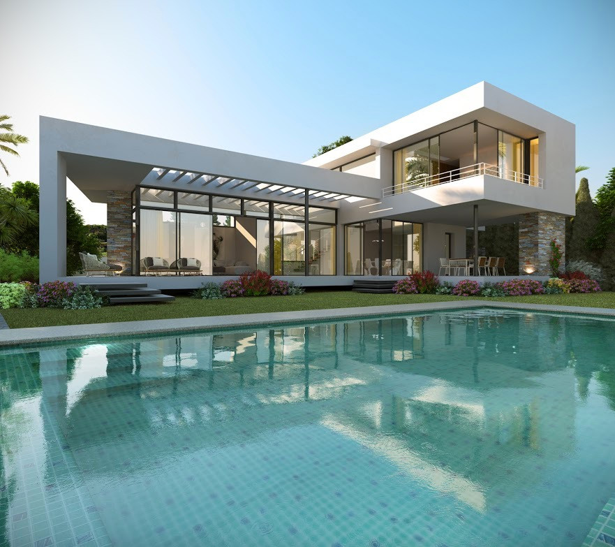 This is the Project of a modern style villa in Nueva Andalucia. You will have spacious romos, living,Spain