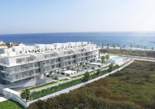 West facing front beach apartment at Torrox costa, offering two bedrooms, open concept kitchen, loun,Spain