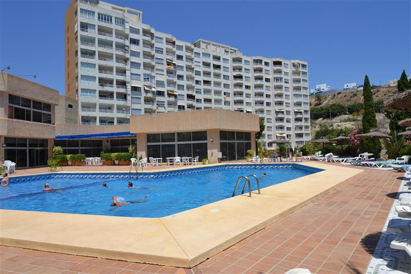Frontline apartment with direct beach access, 2 beds 1 bath, part of the Bluesense resort complex.  , Spain