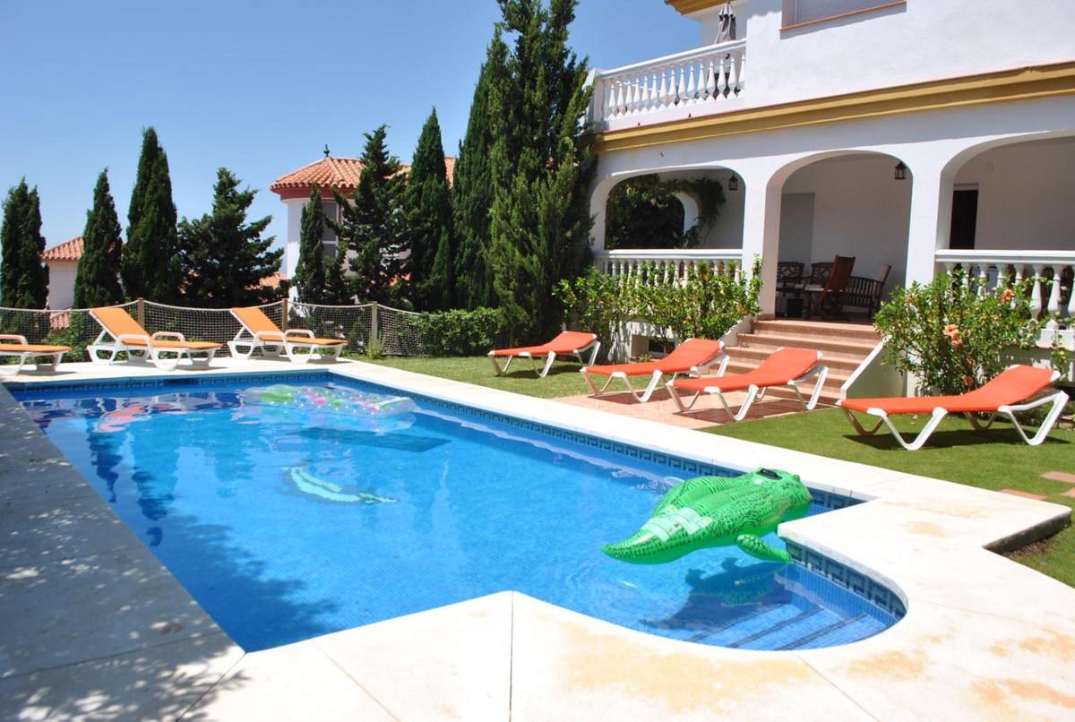 A large and modern four bedroom villa with stunning views ideally located just 125 meters from the b, Spain