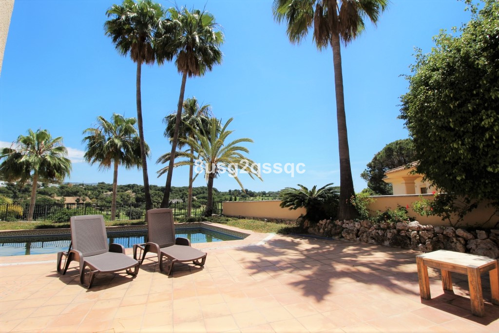 Marvellous views over golf course and sea views from private villa - private setting with no traffic, Spain