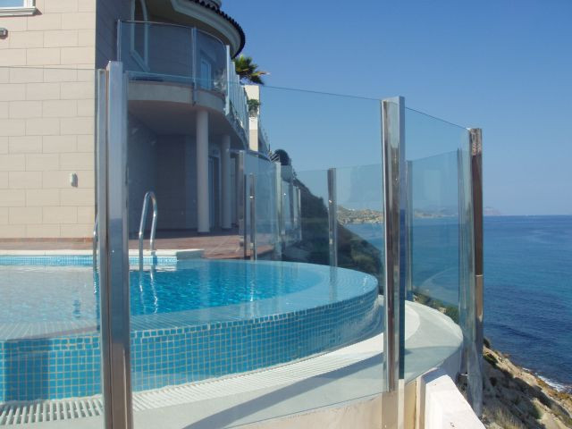 This property is perched on a cliff top at he waters edge. A truly privileged location with 180º vie,Spain