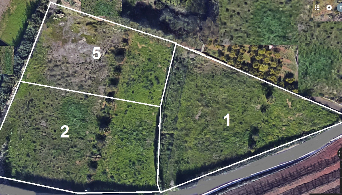 EL ROMERAL TO SALE THREE URBAN PLOTS WITH A HIGH BUILDABILITY OF 2500M2 EACH, a villa or two semi-de,Spain