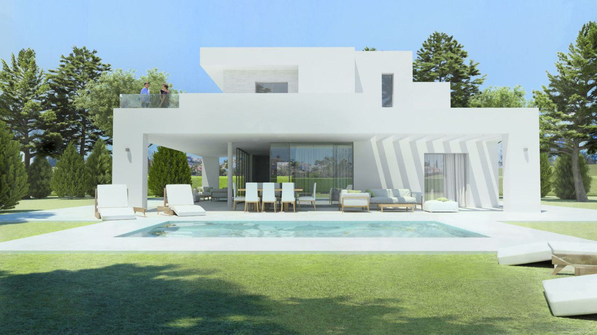 Design the house of your dreams in front of Golf. Separate plots with private swimming pool with ind, Spain