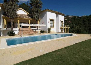 In La Zagaleta, rustic style house with South facing and amazing sea views overlooking the valley on,Spain