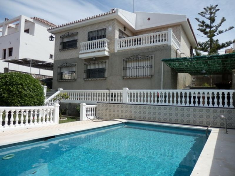 Pretty Villa with magnificent views to sea, partly furnished, fireplace, SAT-TV, various terraces, p,Spain