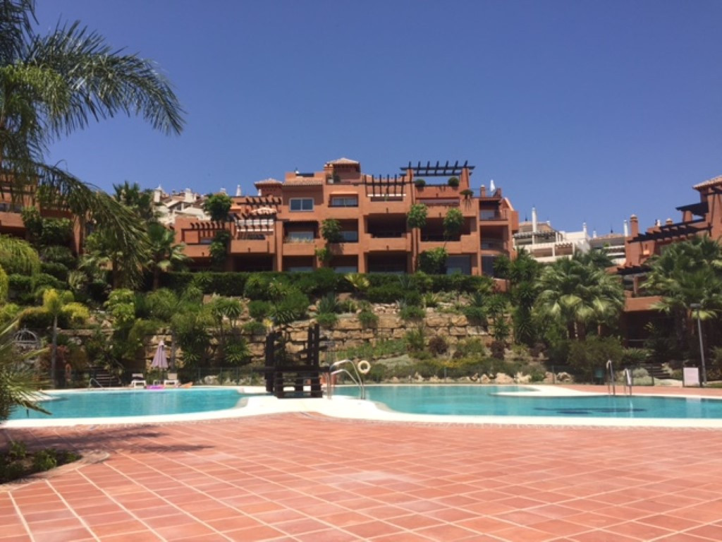 This spacious first floor apartment is situated in the heart of Nueva Andalucia, in a development kn, Spain