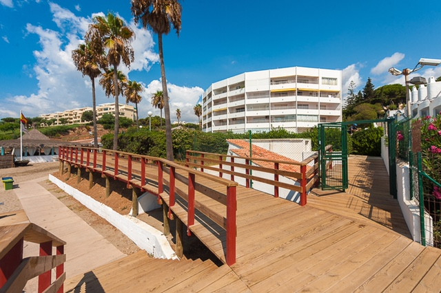 This front line beach apartment is located inside a gated with 24h camera security system and very w,Spain