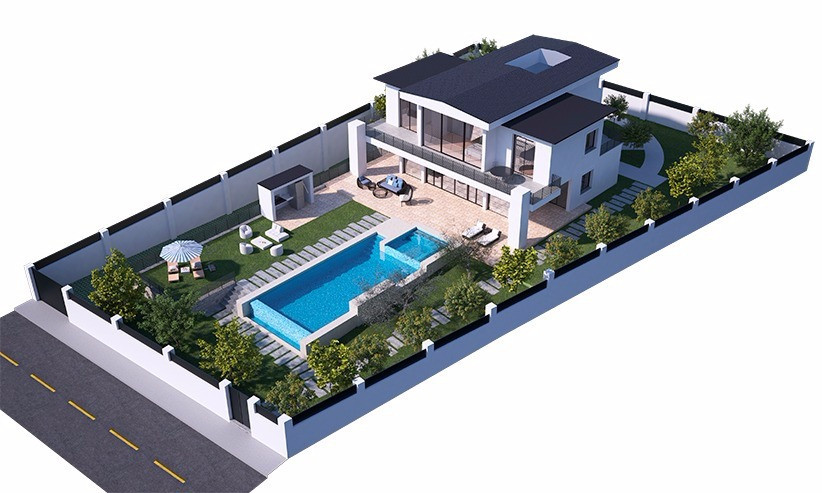 Land with the project, Benahavis, Costa del Sol. Garden/Plot 1536 m².  Setting : Close To Golf. Cond,Spain