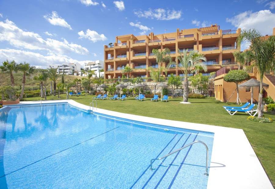 The apartment is located in a luxurious complex in a quiet area near Marbella. There are two large b,Spain