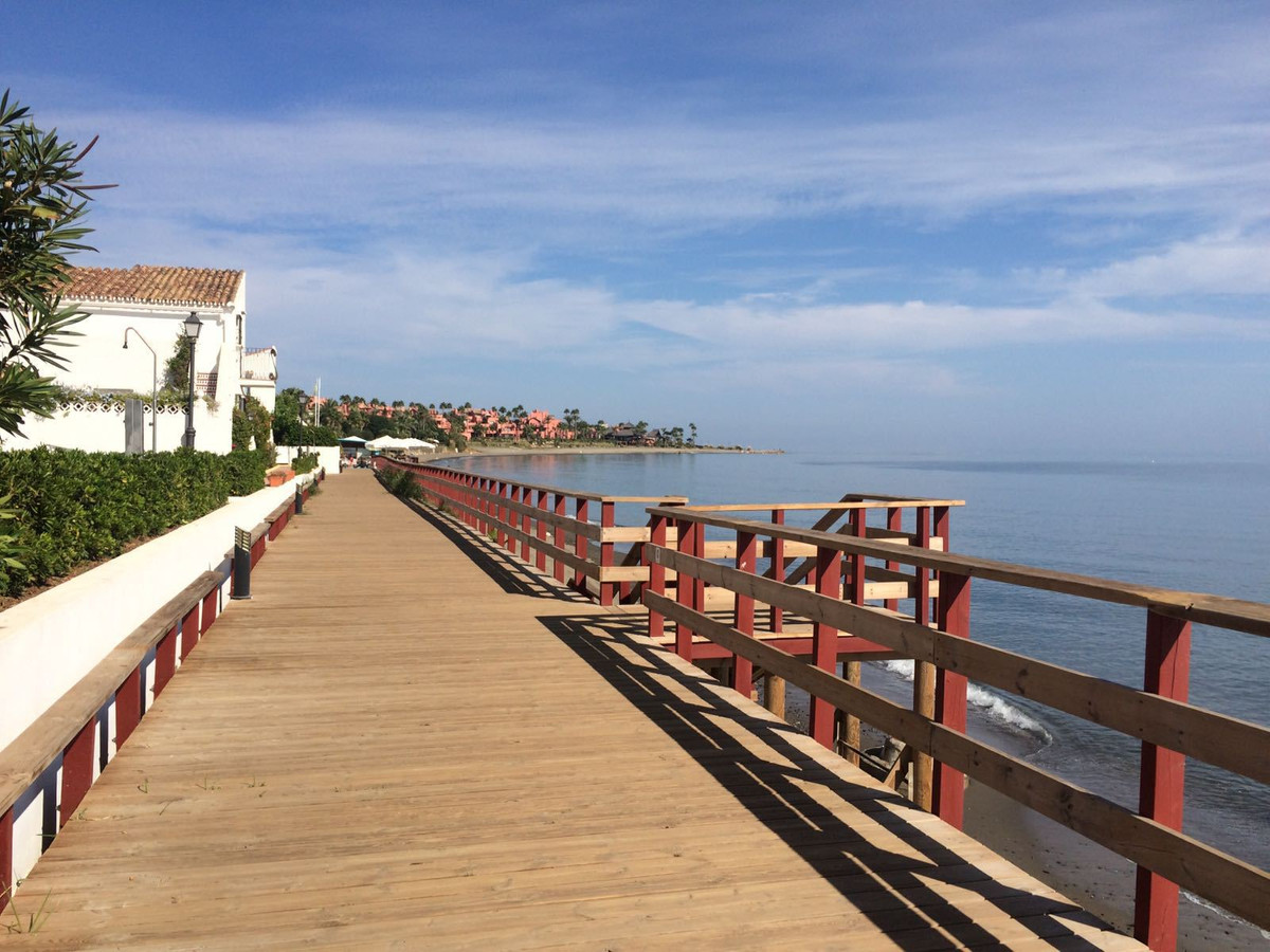 Excellent  front line beach facing west studio apartment  with sea and beach views . Sold furnished.,Spain