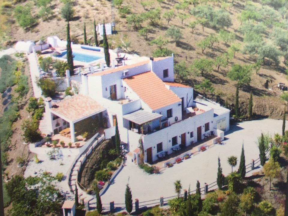 Spectacular Finca in La Vinuela with panoramic views to the mountains and the Lake of La Vinuela. Th, Spain