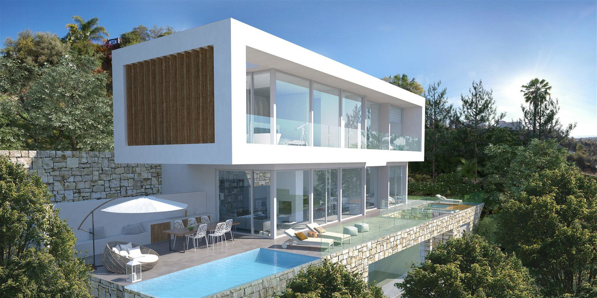 3 level contemporary designer villa in the sought after residential area of El Rosario, Marbella. On, Spain