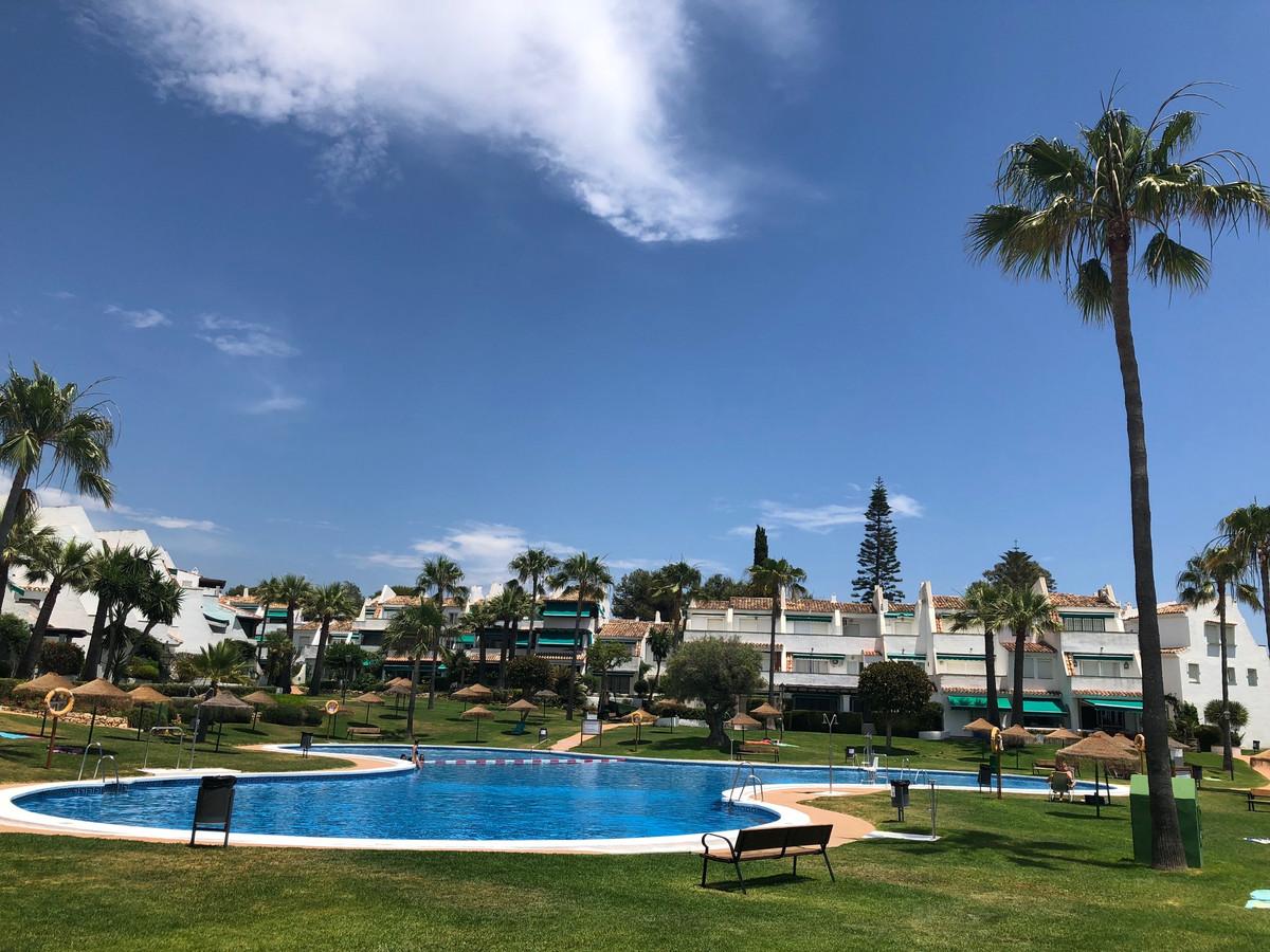 Nice duplex penthouse inside a first line beach gated complex called Lunamar El Rosario, in El Rosar,Spain
