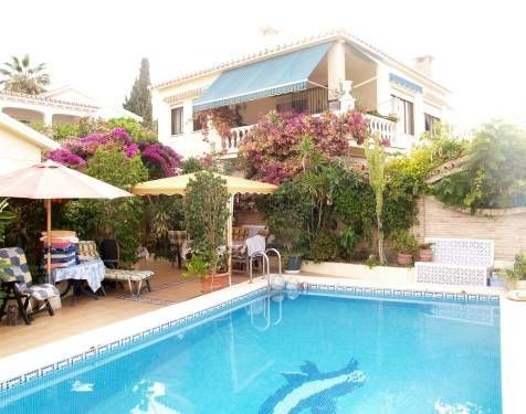 Spacious villa with extra guest apartment, sea views, fully furnished, BBQ, bodega, private pool. RE, Spain