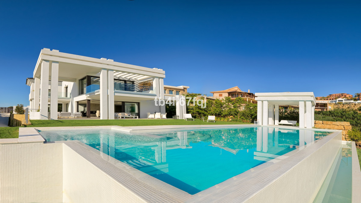 New building 2017  New Contemporary style Villa with open views of the Flamingos Golf course and the,Spain