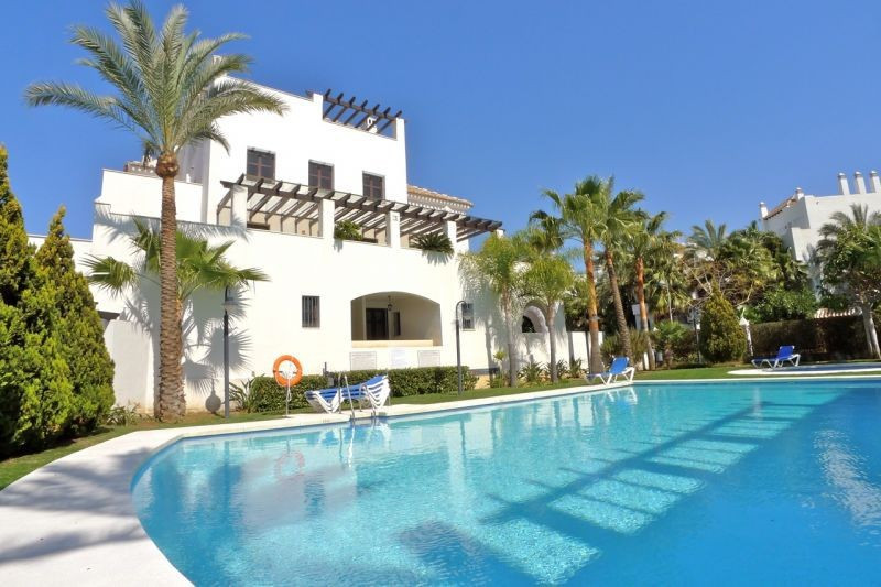 A beachside groundfloor apartment, just a very short walk from the world famous Puerto Banus and its, Spain