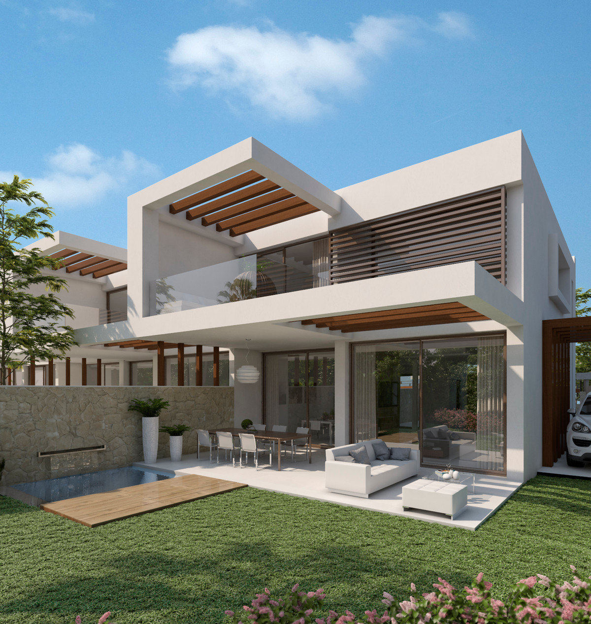 New Project of contemporary semi detached houses with high qualities. Ideally situaded in an quite a,Spain