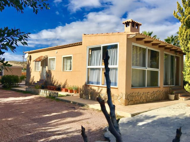 Detached villa, all on one level, in residencial area near El Campello and Alicante with swimming po, Spain