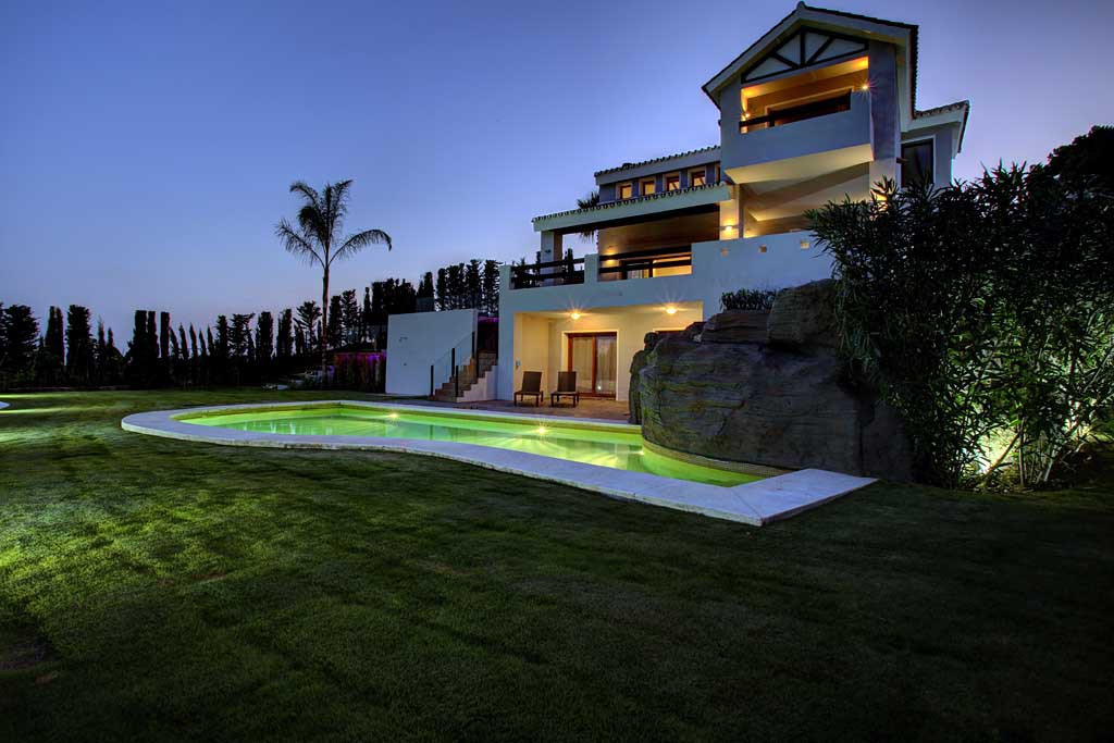 Superb Frontline Golf Villa with Stunning Views over Golf Course, Nature and the Mediterranean. The ,Spain