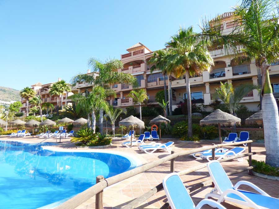 In Benalmadena Costa, very close to the entrance of the Torrequebrada golf course, large two bedroom,Spain