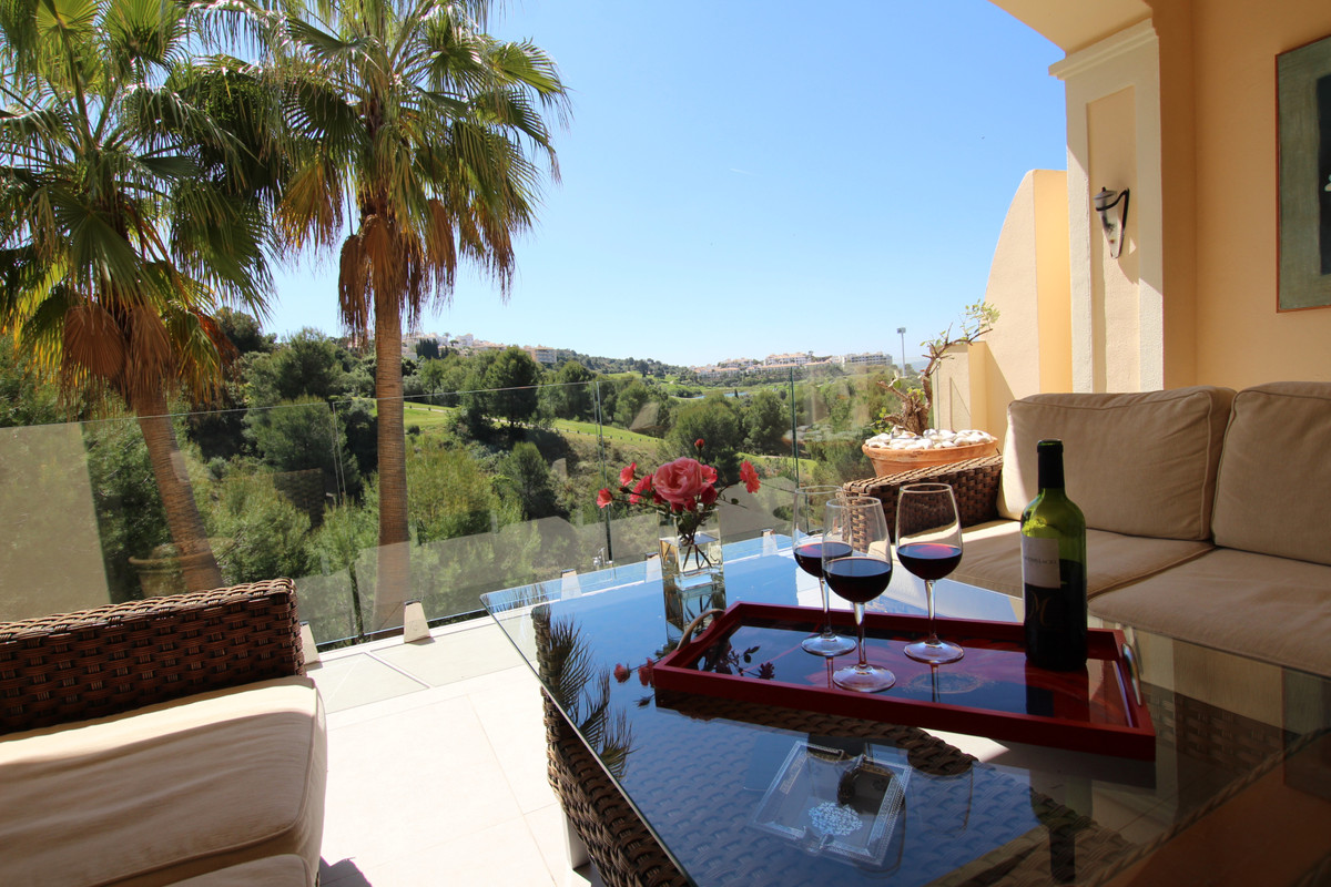 A fantastic, spacious, south facing, front line golf townhouse with private garden overlooking the A,Spain