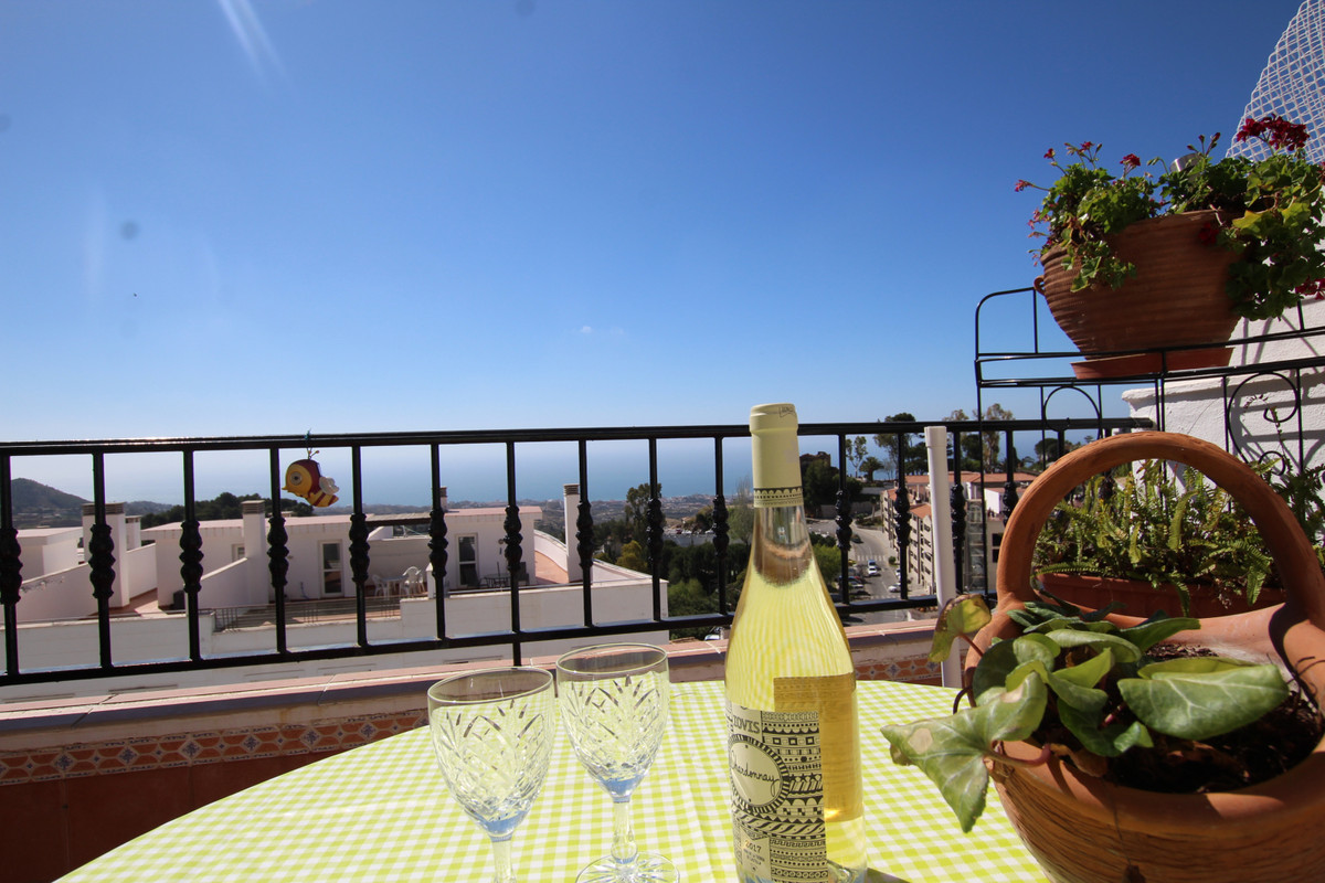 Central 3 bedrooms apartment in the centre of the idyllic white washed village of Mijas Views to the, Spain