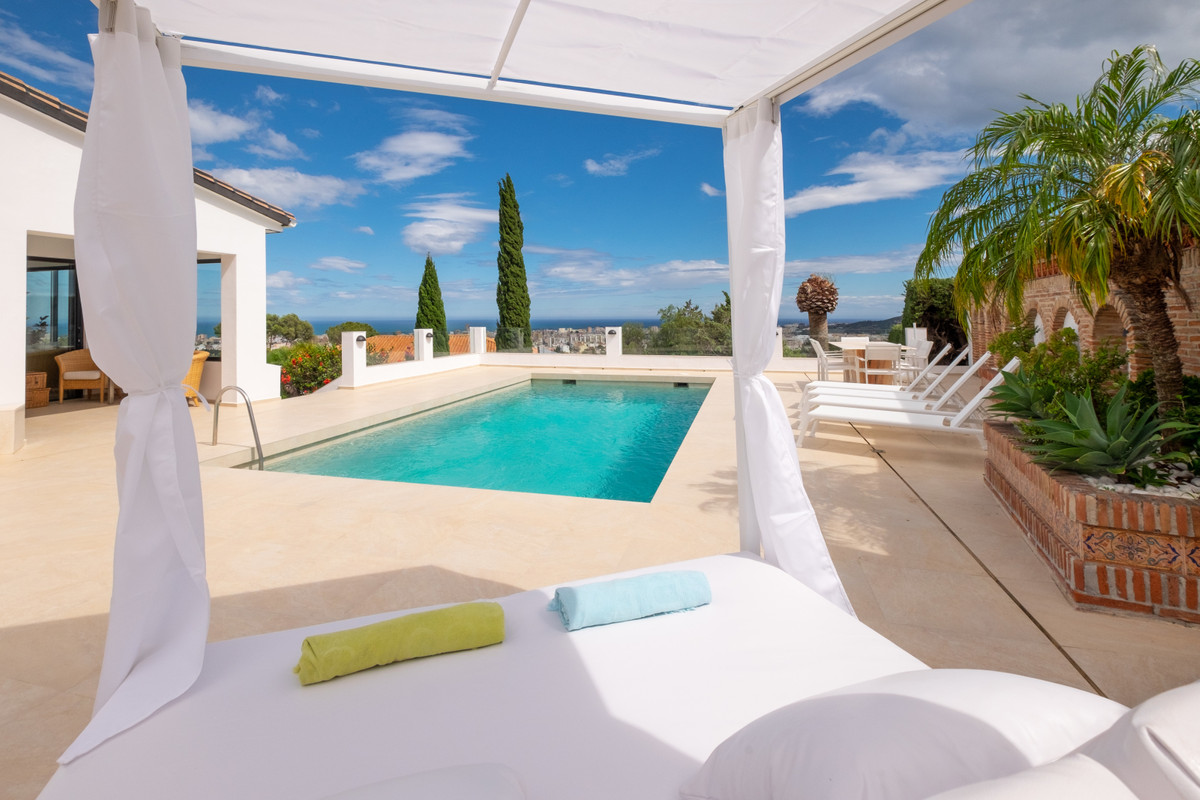 This wonderful villa has magnificent views to the sea and to the mountains, both to Sierra Nevada an, Spain