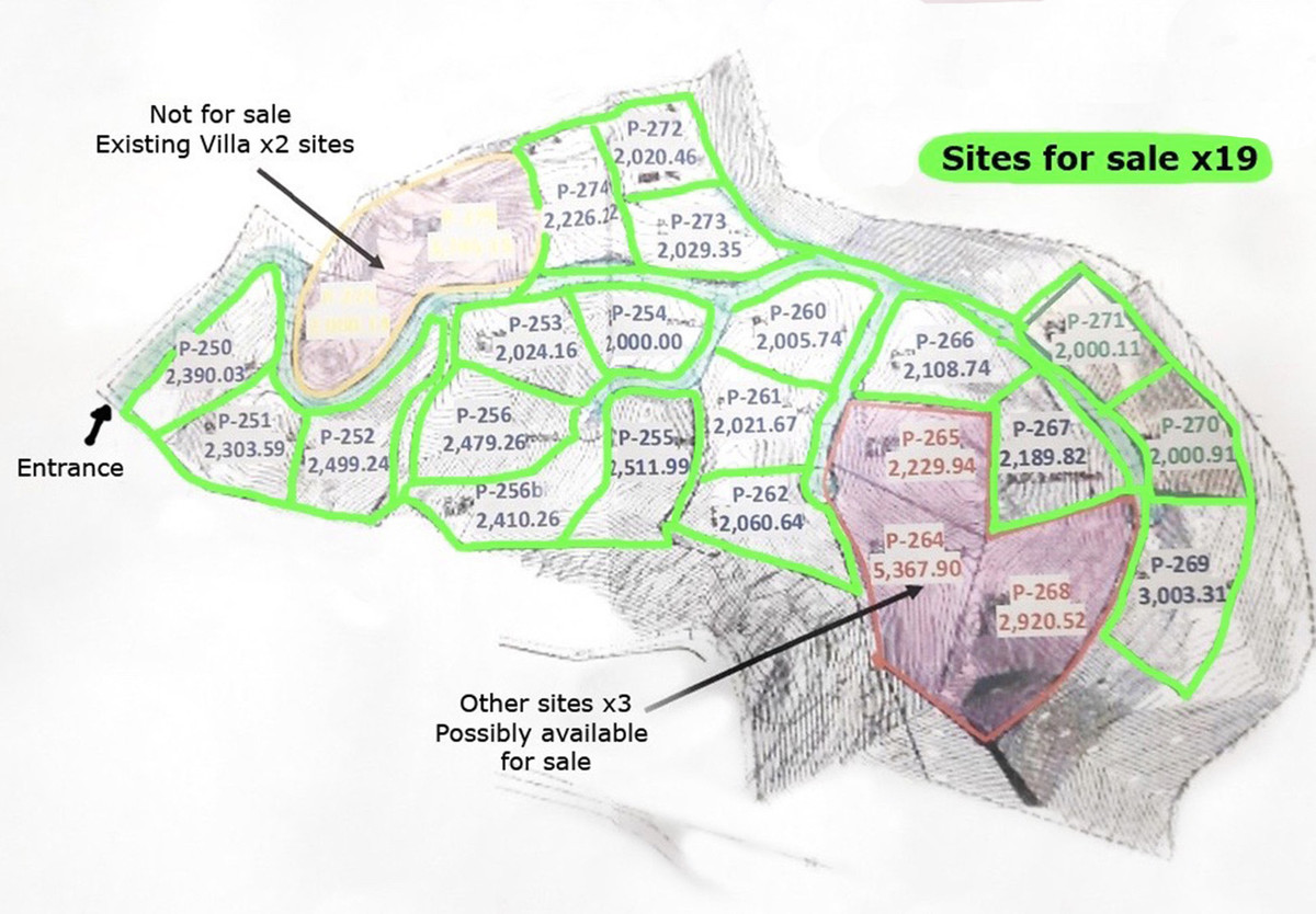 FORCED SALE BARGAIN. Incredible opportunity to buy a large 62,000 sqm land site of 19 villa plots (2,Spain