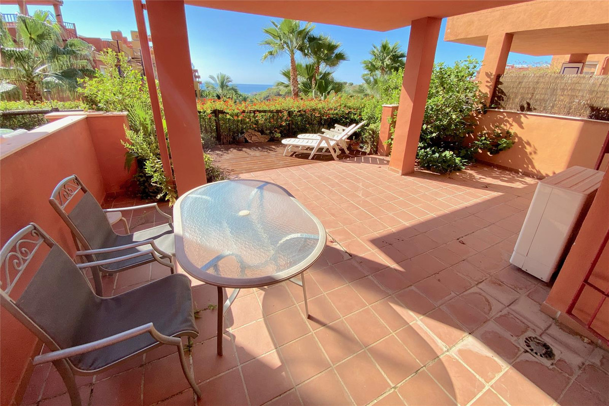 Fabulous raised ground floor 2 bed apartment with sea views. Located in a gated complex with 24hrs s, Spain