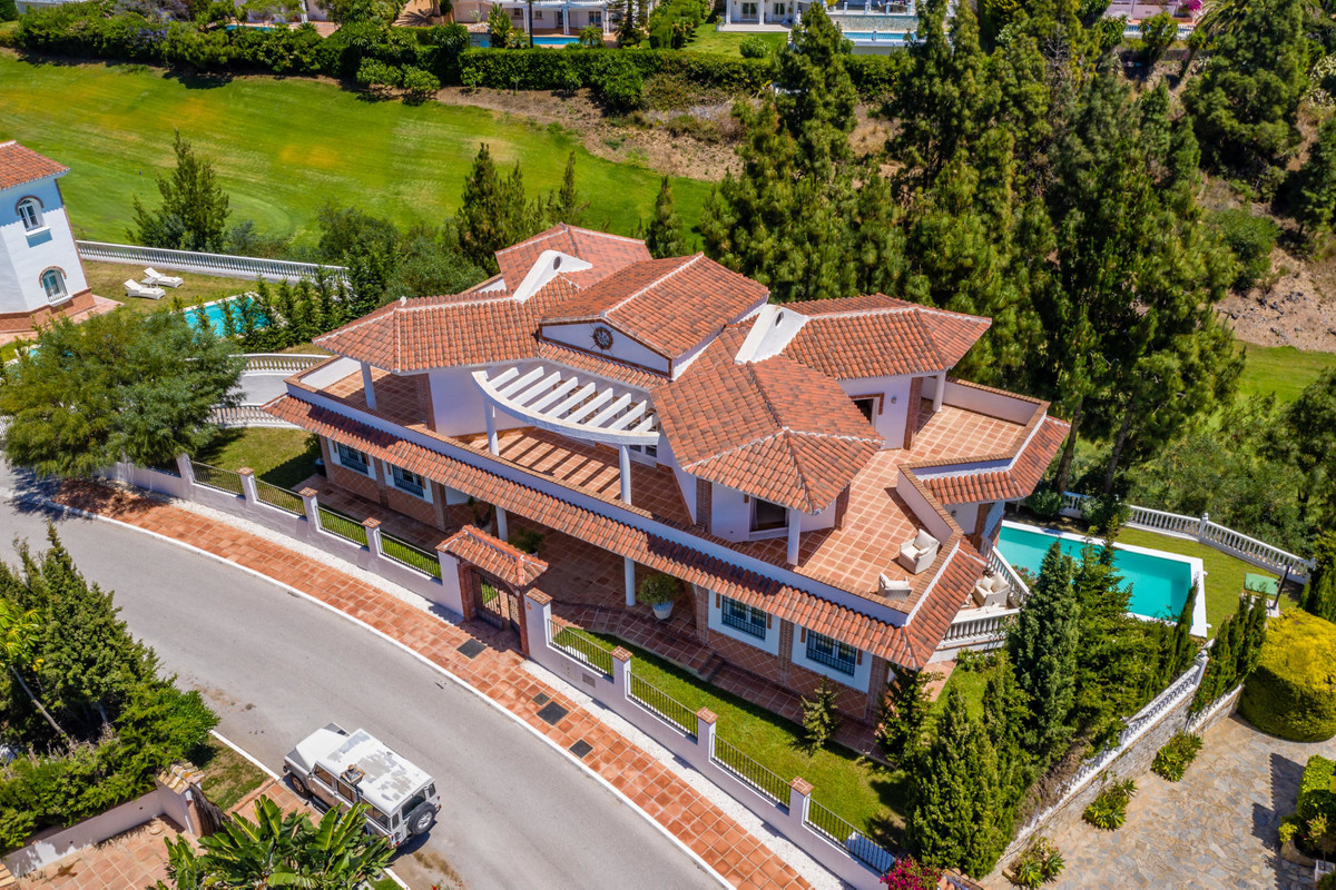 5 bedroom villa in El Chaparral, Mijas, first golf line  Located in a quiet residential area, with u,Spain