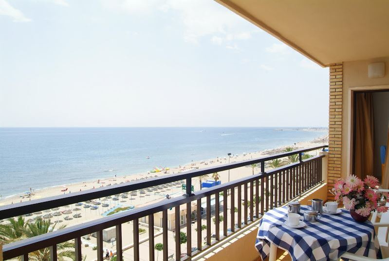 FIRST LINE BEACH APARTMENT  in Los Boliches with SEA FRONT VIEWS. Building in excellent location, fa, Spain