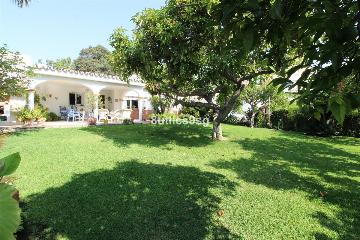 Semi detached Villa on one floor on the edge of Aloha Golf, in Nueva Andalucia, just a short walk fr,Spain