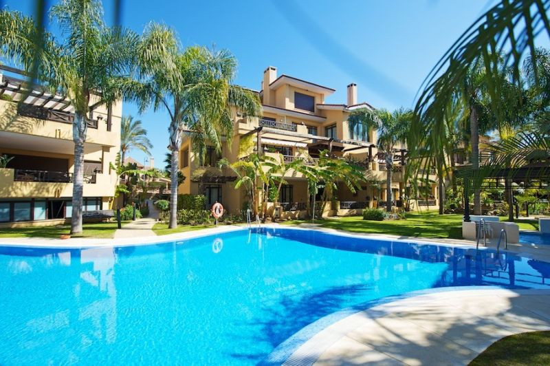 THE BEST PRICED UNIT IN THIS LUXURY DEVELOPMENT.  This excellent 2 bedroom ground floor apartment is Spain