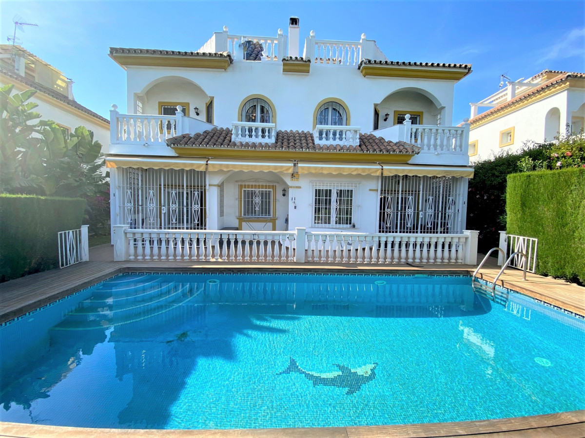 This double house is located on the Golden Mile, between Puerto Banus and Marbella next to the beach, Spain