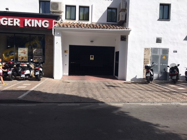 Parking space in underground garage in Puerto Banus, next to all amenities and with easy acces from ,Spain