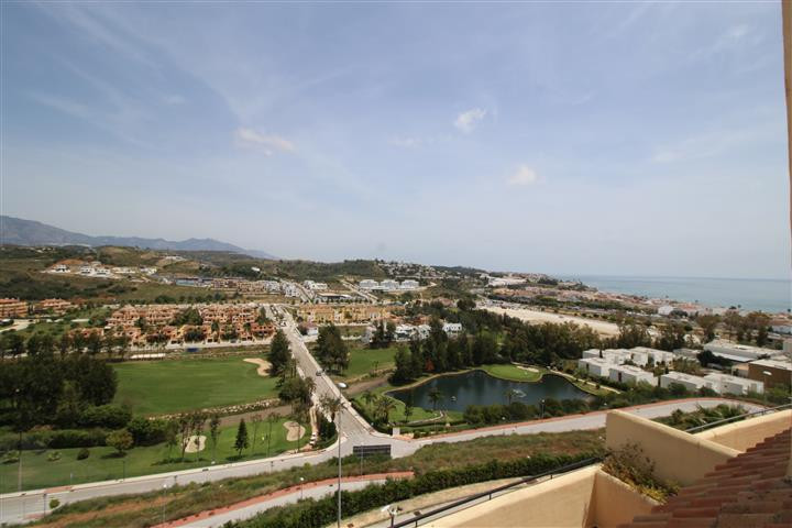 An unusual large top floor 4 bedroom apartment with views across La Cala to the sea. Set on two floo, Spain