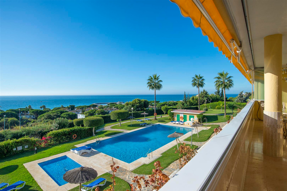 Cabopino, Marbella. Wonderful south facing apartment with spectacular sea views from the spacious te,Spain