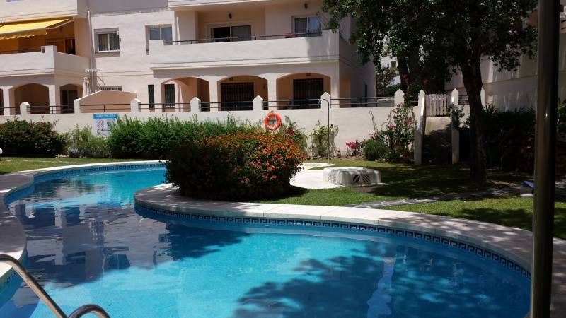 This is a very nice spacious ground floor apartment with afternoon sun located on a small private co,Spain