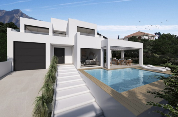 A once in a lifetime opportunity to purchase a contemporary detached villa in the center of Marbella,Spain