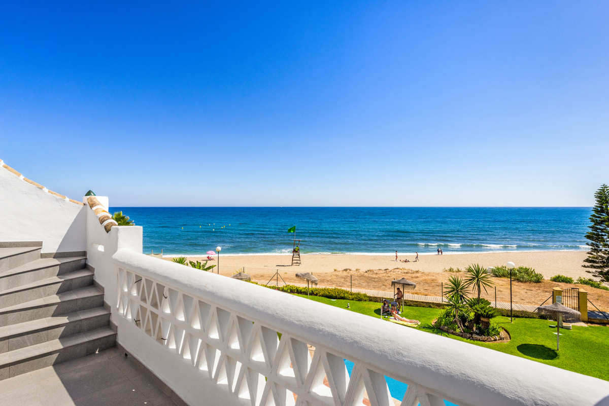 First line beach penthouse with spacious solarium on top offering panoramic sea views all the way to, Spain