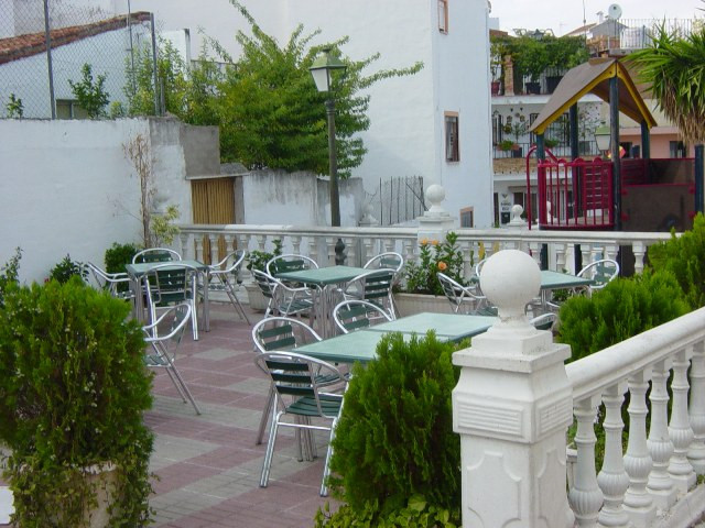 Fantastic location for this popular bar in the centre of Monda. Very large outside terrace too. Bein,Spain