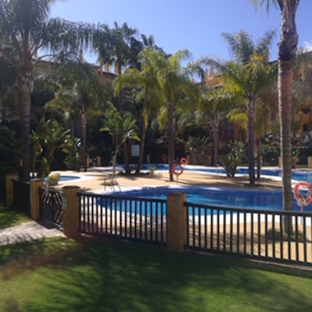 Groundfloor apartment with 2 bedrooms and 2 bathroom located in Nueva Alcantara. The complex is closSpain