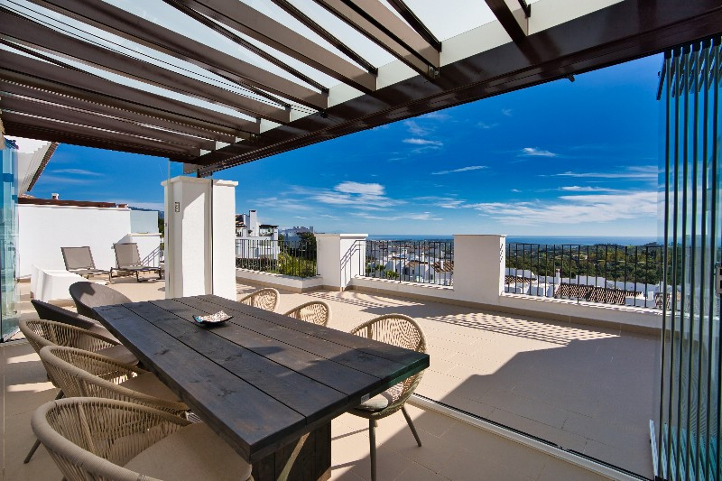 Luxury penthouse with 3 bedrooms & 2 bathrooms. Panoramic sea, forest & golf views located i, Spain