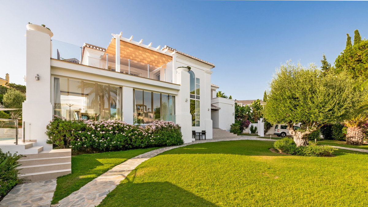 This modern villa with all amenities close by , is located in one of Marbella´s best beach urbanizat, Spain
