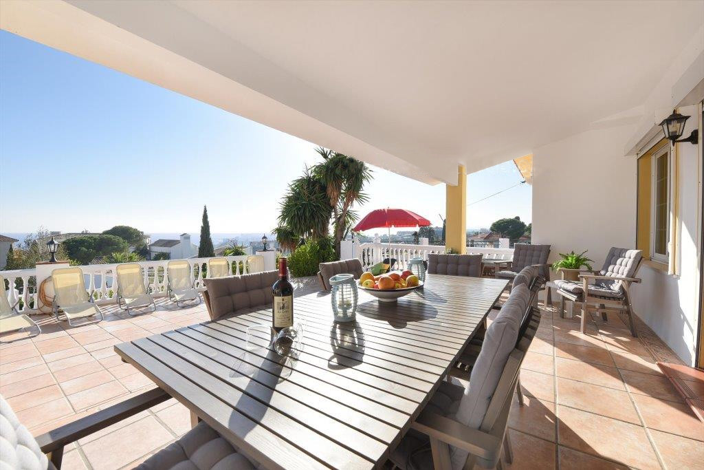 RENTED TILL SEPTEMBER 2021. The detached villa with private swimming pool is situated in an elevated, Spain
