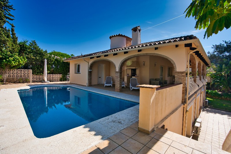 Villa close to the best sandy beaches. This well-built villa is located in one of Marbella's be,Spain