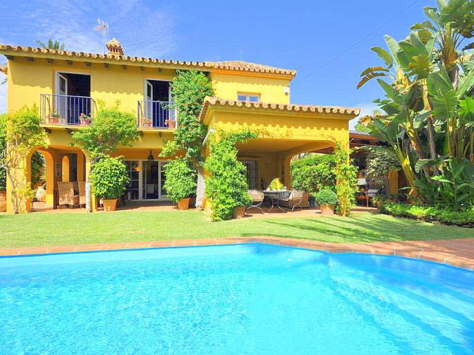 Beachside villa in one of the best residential areas of the Marbella, located at only 100 meters fro,Spain